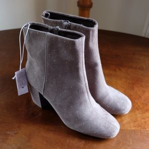 Old Navy Taupe Studded Booties